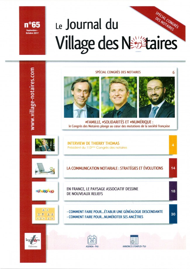 Journal du Village des Notaires - Septembre 2017
